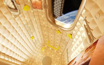 The interior designed by Phillipe Starck.
