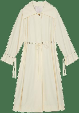 Techy Faille Cinched Waist Coat