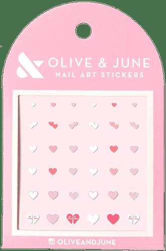 Heart To Heart Nail Art Stickers