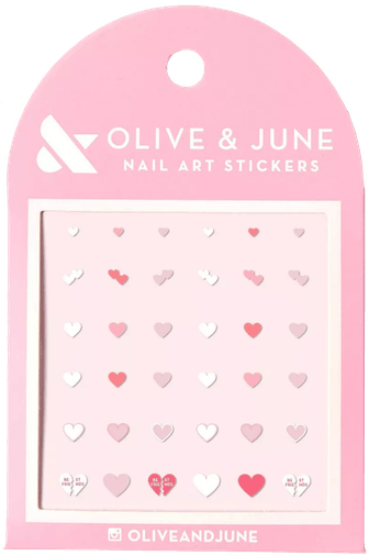 Heart To Heart Nail Art Stickers