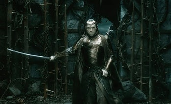 Hugo Weaving as Elrond in The Hobbit: The Battle of the Five Armies