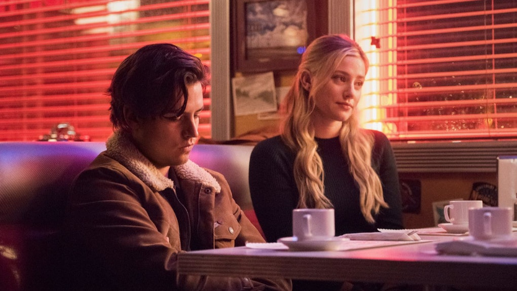 Cole Sprouse and Lili Reinhart in Riverdale.