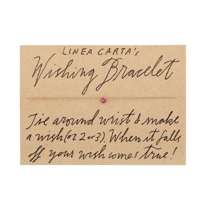 Linea Carta's Ruby Wishing Bracelet