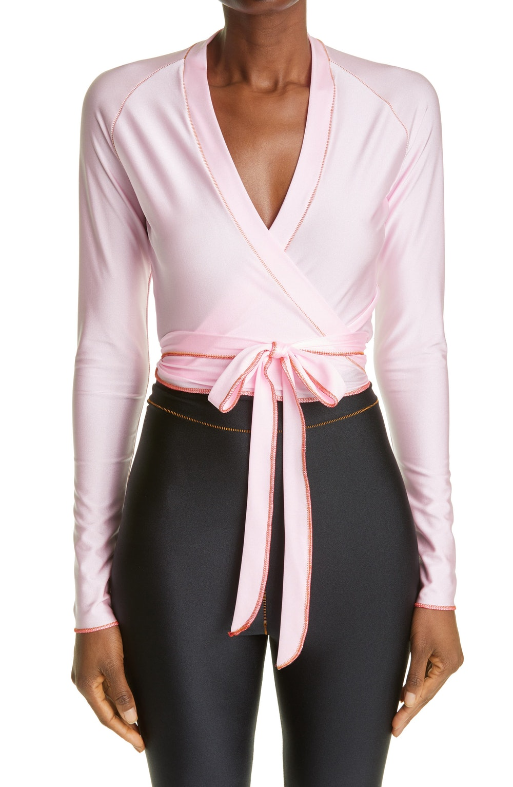 Iconic Crop Wrap Top