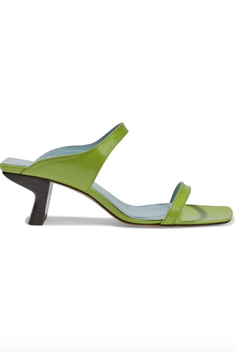 Paola Glossed-Leather Mules