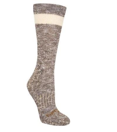 Carhartt Women's Size Medium Brown Merino Wool Blend Slub Hiker Crew Socks