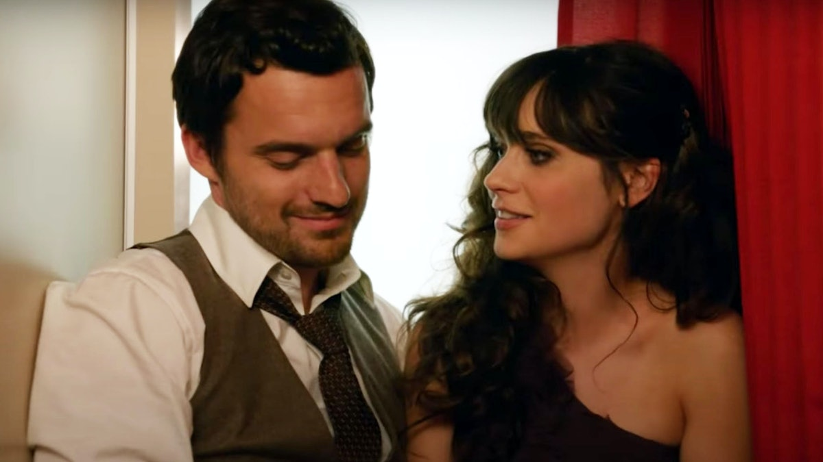 New Girl Nick & Jess in photo booth