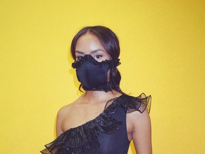 Black Ruffle Mask