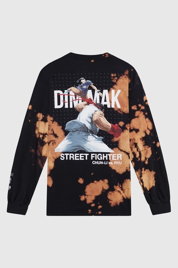 Street Fighter-themed shirt made in collaboration between DJ Steve Aoki and Capcom.