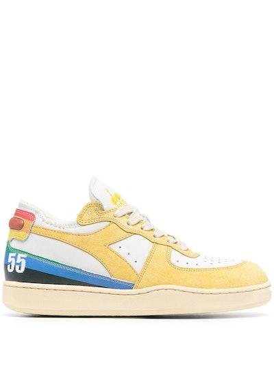 Rainbow Stripe Low-Top Sneakers