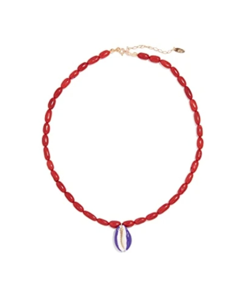 Bamboo Coral Shell Necklace