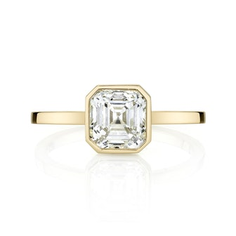 Asscher Cut Diamond With Square Band
