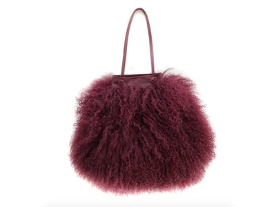 Fur & Leather Drawstring Mini Bag