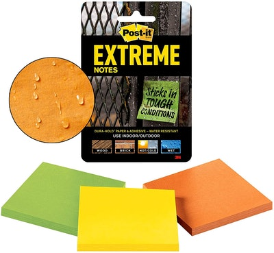 Post-it Water-Resistant Sticky Notes (3 Pack)