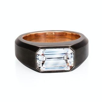 Bespoke Elongated Emerald Ring
