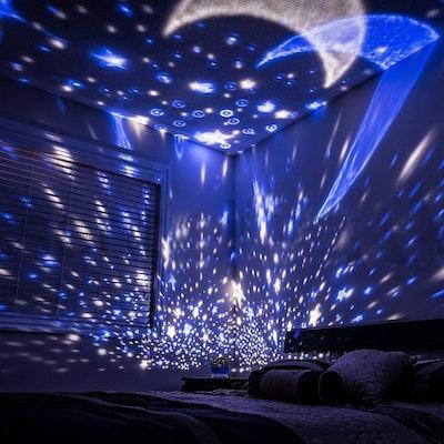 Luckkid Baby Night Light Moon Star Projector