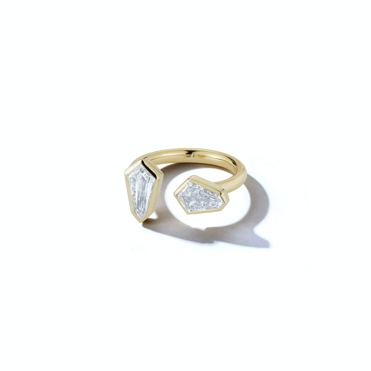 Double Shield Open Ring
