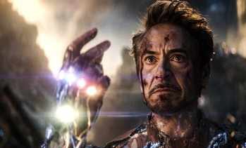 Robert Downey Jr. as Iron Man in Avengers: Endgame