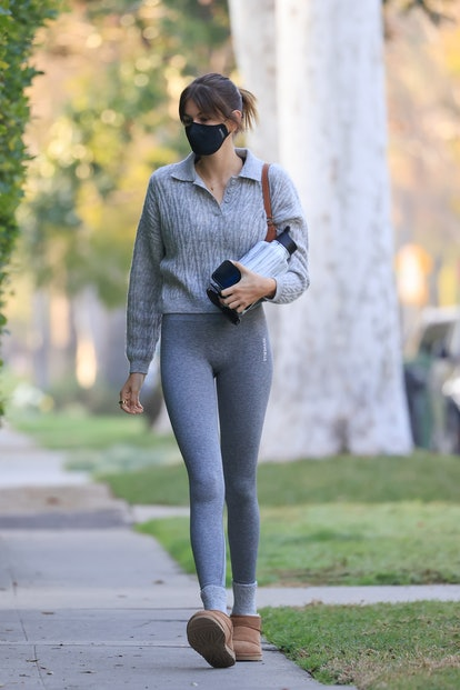 Kaia Gerber is seen on February 11, 2021 in Los Angeles, California.