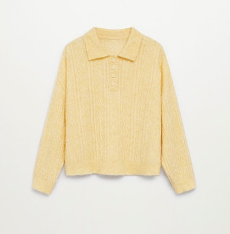 Contrasting Knitted Polo Shirt