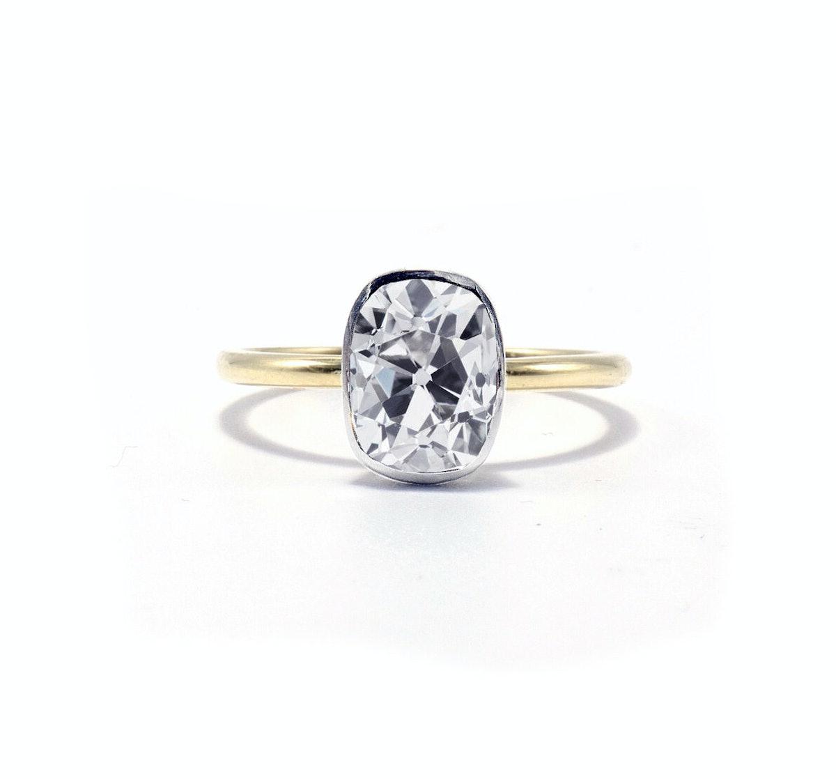 Aurora Cushion Cut Engagement Ring