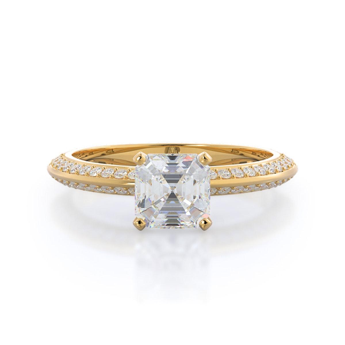 Duet Pave Diamond Engagement Ring