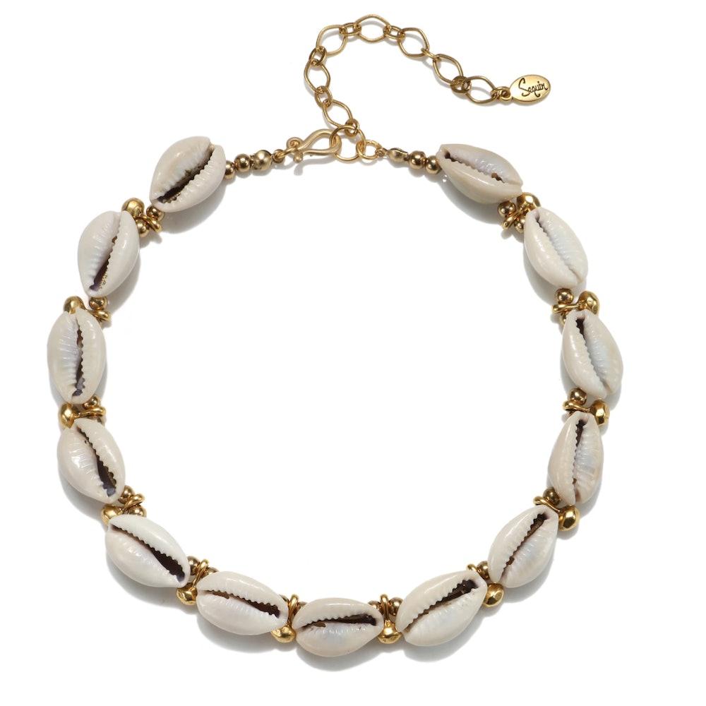 Tulum Cowrie Shell Choker Necklace