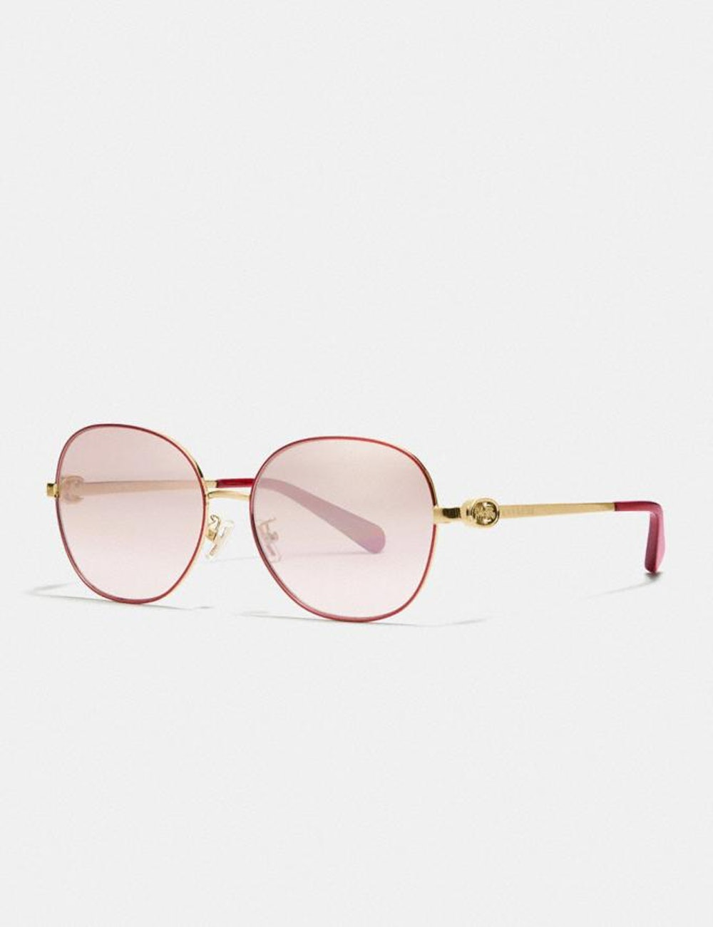 Lunar New Year Wire Frame Round Sunglasses