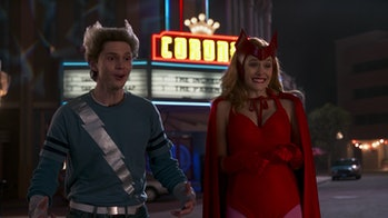 Evan Peters as Quicksilver and Elizabeth Olsen as Scarlet Witch in WandaVision Episode 6