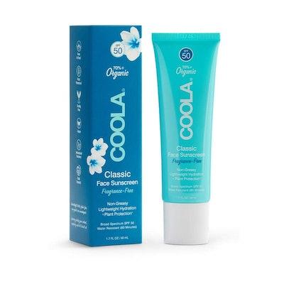 COOLA Organic Face Sunscreen Broad Spectrum SPF 50, 1.7 Fl Oz