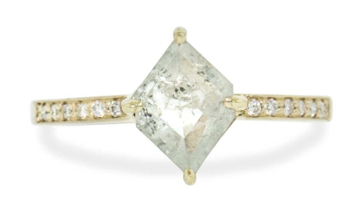 Icy White Kite Diamond Ring