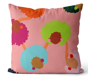 Fro Friends Throw Pillow