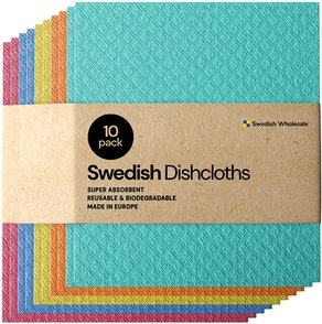 Swedish Dishcloth Reusable Sponge Cloths (10-Pack)