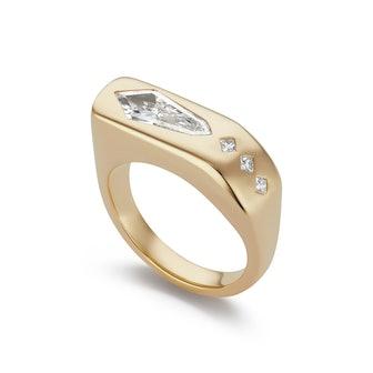Diamond Kite Gypsy Ring