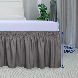 PureFit Wrap Around Ruffled Bed Skirt