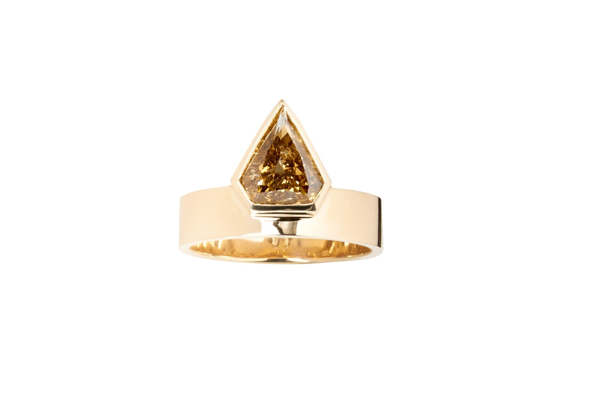One Of A Kind Diamond Shield Monolith Ring