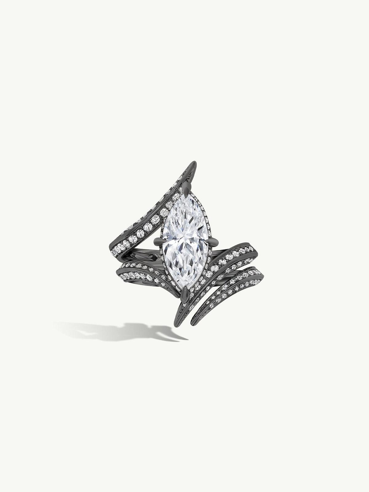 Ayla Marquise-Cut DIamond Engagement Ring