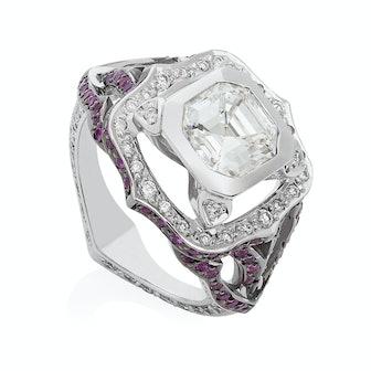Bespoke Asscher Cut Diamond Ring