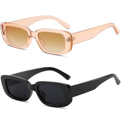 KUGUAOK Rectangle Vintage Sunglasses
