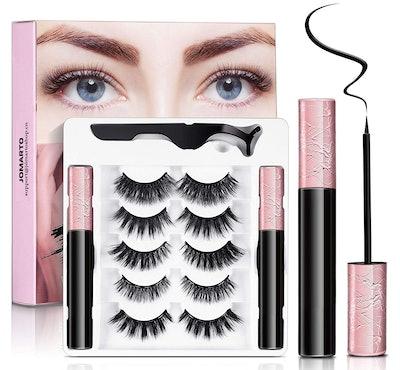 JOMARTO Magnetic Eyelashes with Eyeliner Kit