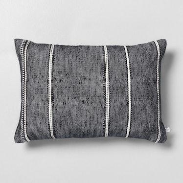 """14"""" x 20"""" Stripe Pattern Throw Pillow Railroad Gray"""