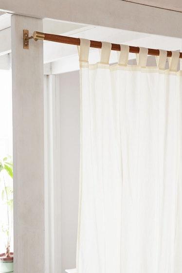 Mid-Century Modern Wood Curtain Rod