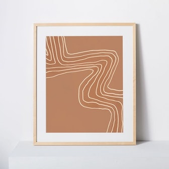 Terracotta Wave Framed Print