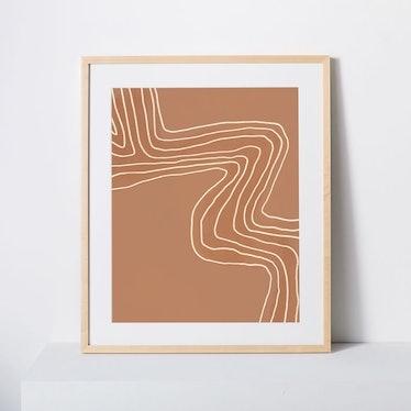 Terracotta Wave Framed Print