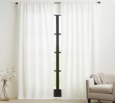Custom Belgian Flax Linen Rod Pocket Curtain