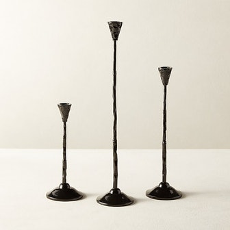 Rho Black Taper Candle Holder Small