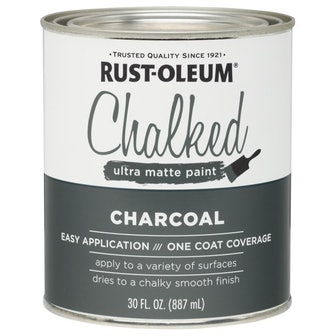 Charcoal Rust-Oleum Chalked Ultra Matte Paint, 30 oz.