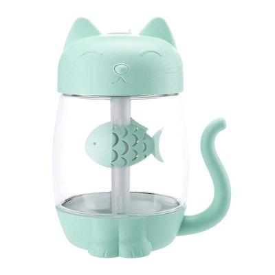 3 In 1 Humidifier Cute Cat LED Humidifier Air Fan Diffuser Purifier Atomize