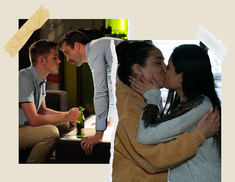 LGBTQ representation in British soap operas.