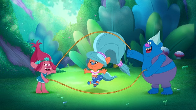 'Trollstopia' is about the adventures of Queen Poppy through her magical kingdom.